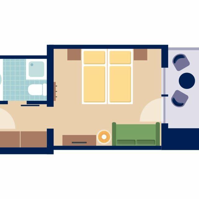Doppelzimmer Natur Grundriss -Beispiel-
