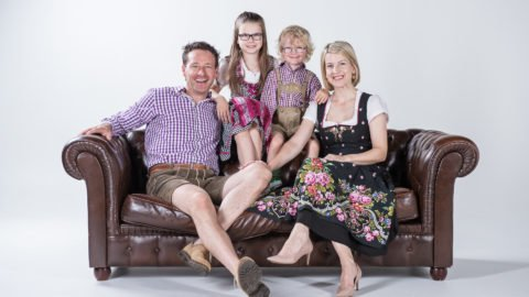 Familie Daniela & Michael Huber mit Emma & Paul