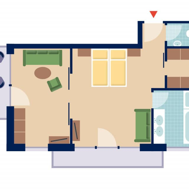 Grundriss Loft Suite