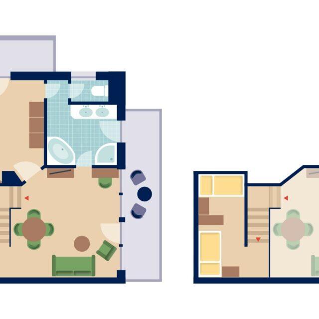 Grundriss Familien Suite